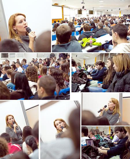 Fotografije sa predavanja Kako živeti od veb dizajna, Maja Vasić; Autor: Kiković