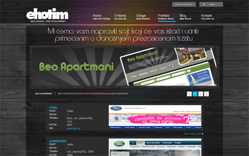 Ehotim web design