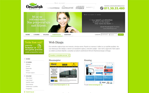 Greenfish web design