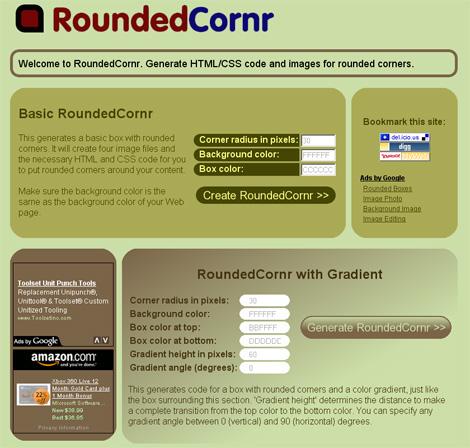 Online generator zaobljenih ćoškova pomoću CSS-a