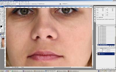 Rezultat nakon što je izvršena korekcija lica Spot Healing Brush alatkom