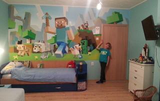 Minecraft dečija soba i Minecraft fan